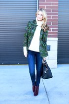 Jcrew jacket - rag & bone jeans - Equipment shirt