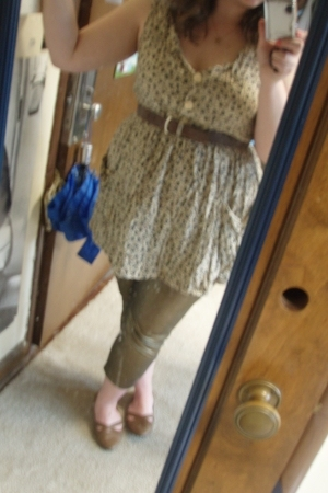 Norton McNaughten dress - Charlotte Russe leggings - liz claiborne belt - Urban