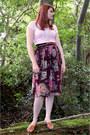 Black-chiffon-atmosphere-skirt-bubble-gum-cotton-atmosphere-t-shirt-bronze-l