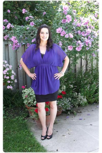 purple Simons blouse - black H&M skirt - black Gossip shoes