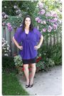 Purple-simons-blouse-black-h-m-skirt-black-gossip-shoes