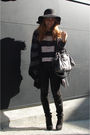 Black-topshop-boots-black-topshop-pants-pink-cos-blouse-gray-gerard-darel-