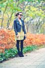 Light-yellow-topshop-dress-black-topshop-boots-black-nu-notes-jacket-black