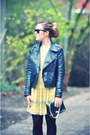 Light-yellow-topshop-dress-black-topshop-boots-black-nu-notes-jacket-black