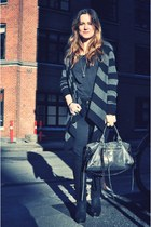 acne boots - balenciaga bag - Gerard Darell cardigan