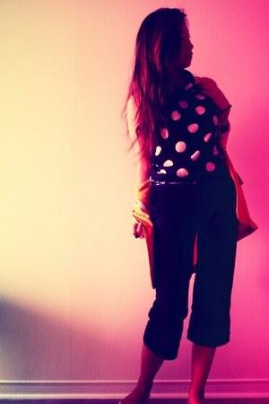 black polka dots Jacob boutique blouse - black caprese Talula pants