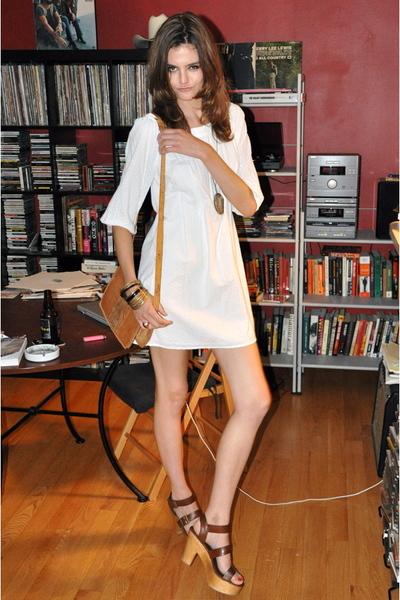 Diane Von Furstenberg dress - vintage purse - vintage necklace - vintage bracele