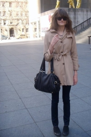 vintage from Screaming Mimis NYC coat - J Brand jeans - Marc by Marc Jacobs purs
