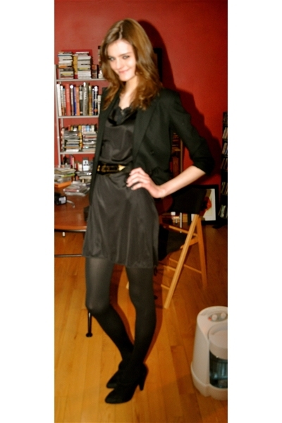 vintage blazer - vintage from Screaming Mimis NYC dress - Wolford tights - vinta