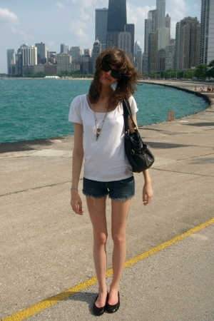 Libertine for Target t-shirt - Siwy Denim shorts - scoop NYC shoes - Marc by Mar
