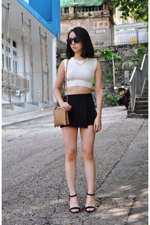 Zara heels - COS bag - Topshop skirt - Zara top