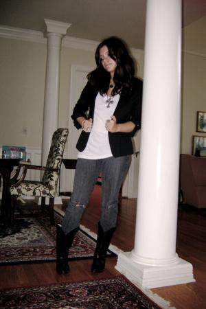 H&M blazer - BDG jeans - vintage - t-shirt