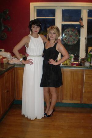 white accessories - dress
