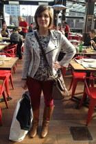 silver becky jacket Rebecca Minkoff blazer - brown Steve Madden boots