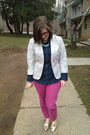 White-french-connection-blazer-hot-pink-rivet-sway-glasses