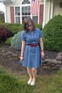 Blue-target-dress-sky-blue-spike-the-punch-necklace