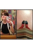 black BonLook glasses - ruby red Jones New York skirt - black ben sherman blouse