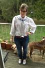 Hot-pink-target-belt-blue-seven-jeans-violet-baublebar-necklace