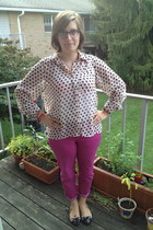 black BonLook glasses - bubble gum Gap pants - light pink Frock Candy top