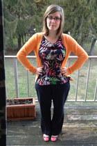 light orange H&M cardigan - navy The Webster for Target top