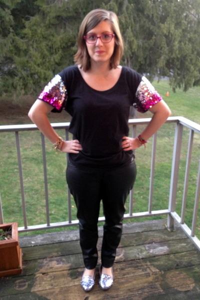 black Victorias Secret t-shirt - black LC Lauren Conrad pants
