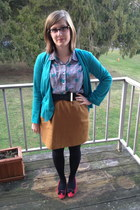 turquoise blue Trashy Vintage blazer - black BonLook glasses
