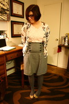 navy thrifted skirt - light purple Betsey Johnson stockings