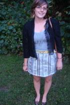 brick red store in shanghai skirt - light blue thrifted skirt