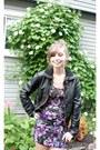 Purple-windsor-dress-black-khols-jacket