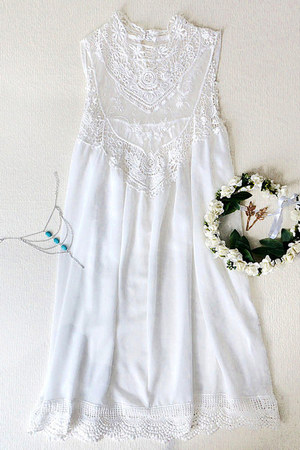 white dress Lookbook Store dress