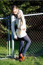 delias sweater - Steve Madden shoes - Pashiama scarf - Candis glasses - delias b