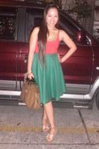 red Ems Vintage Closet top - olive green Ems Vintage Closet skirt