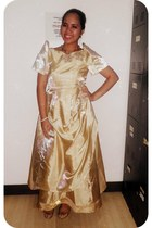 eggshell Ems Vintage Closet dress - tan Ems Vintage Closet flats