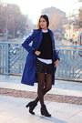 Blue-wool-andrews-ladies-coat-white-pull-bear-shirt-black-square-lydc-bag