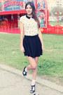 Off-white-cute-bershka-top-black-cute-h-m-skirt-black-leather-zara-sandals