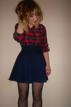 Topshop shirt - Primark tights - TK Maxx skirt
