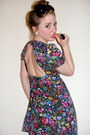 Floral-cut-out-topshop-dress-topshop-tights-chanel-earrings