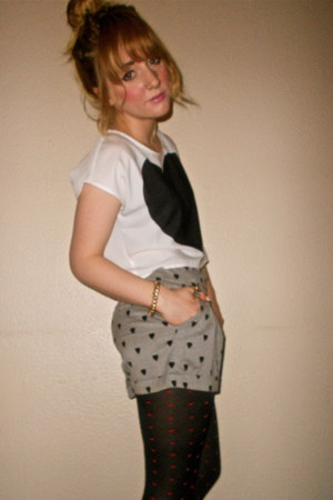 H&M tights - Primark shorts - H&M top