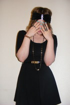 Topshop ring - black Topshop dress - Topshop tights