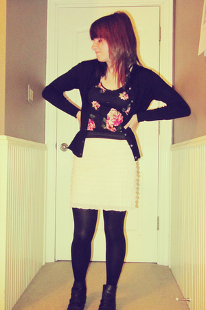 banana republic cardigan - Urban Outfitters skirt - Urban Outfitters top - Deena