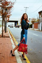 SU-SHI bag - 31 Phillip Lim sweater - asos skirt - rachel roy heels
