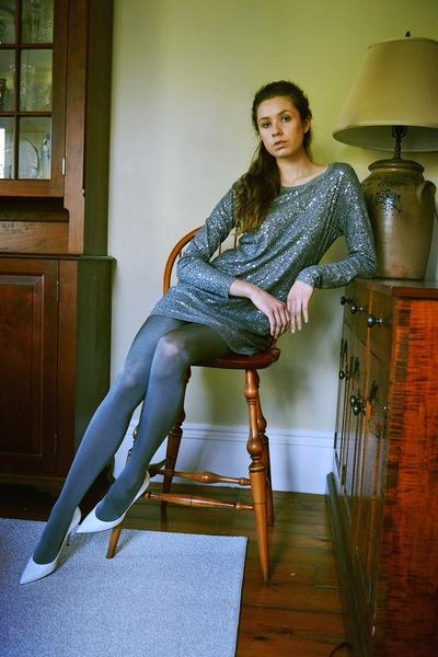DKNY dress - stuart weitzman heels