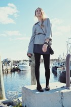 Zara dress - Topshop sweater - Whiting & Co bag - Ray Ban sunglasses