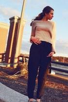 Topshop sweater - Zara pants - sam edelman flats