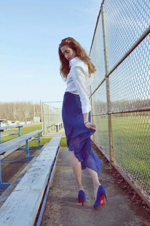 Christian Louboutin heels - Brooks Brothers blouse
