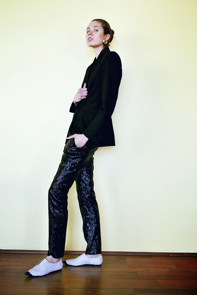 Barneys New York blazer - 31 Phillip Lim shoes - Alexander McQueen pants