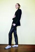 Barneys New York blazer - 31 Phillip Lim shoes - Alexander McQueen pants