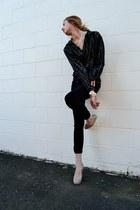 Steve Madden heels - Topshop jeans