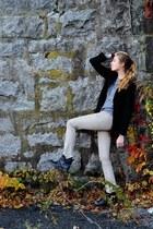 Jeffrey Campbell boots - BCBG jeans - H&M sweater - Barneys blazer