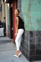 calvin klein vest - Zara pants - stuart weizman heels